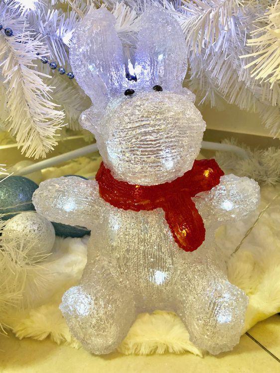 led rentier weihnachts deko beleuchtung acryl licht weihnachten figur sitzend 4388859161469 ebay. Black Bedroom Furniture Sets. Home Design Ideas