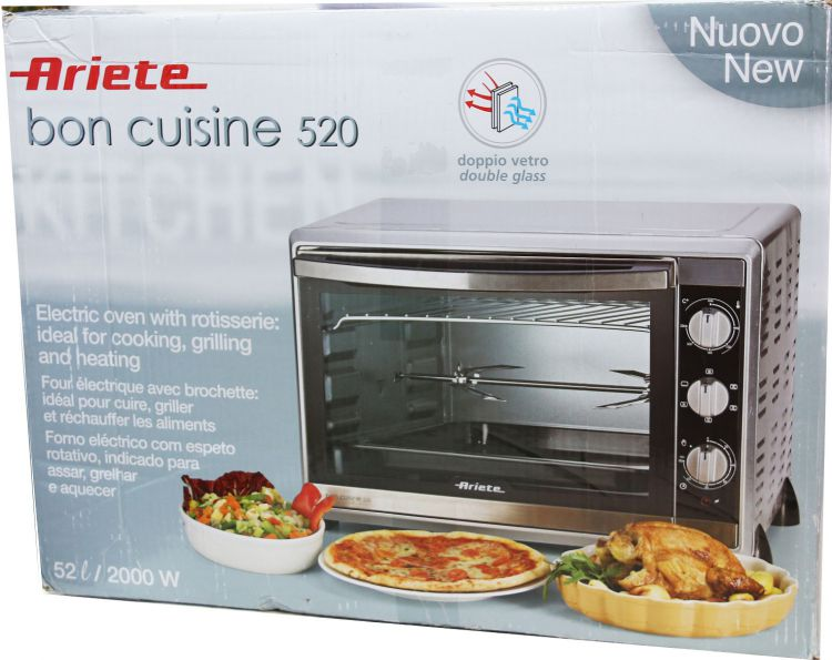 ariete 976 bon cuisine 520 ofen 2000 watt 52 liter
