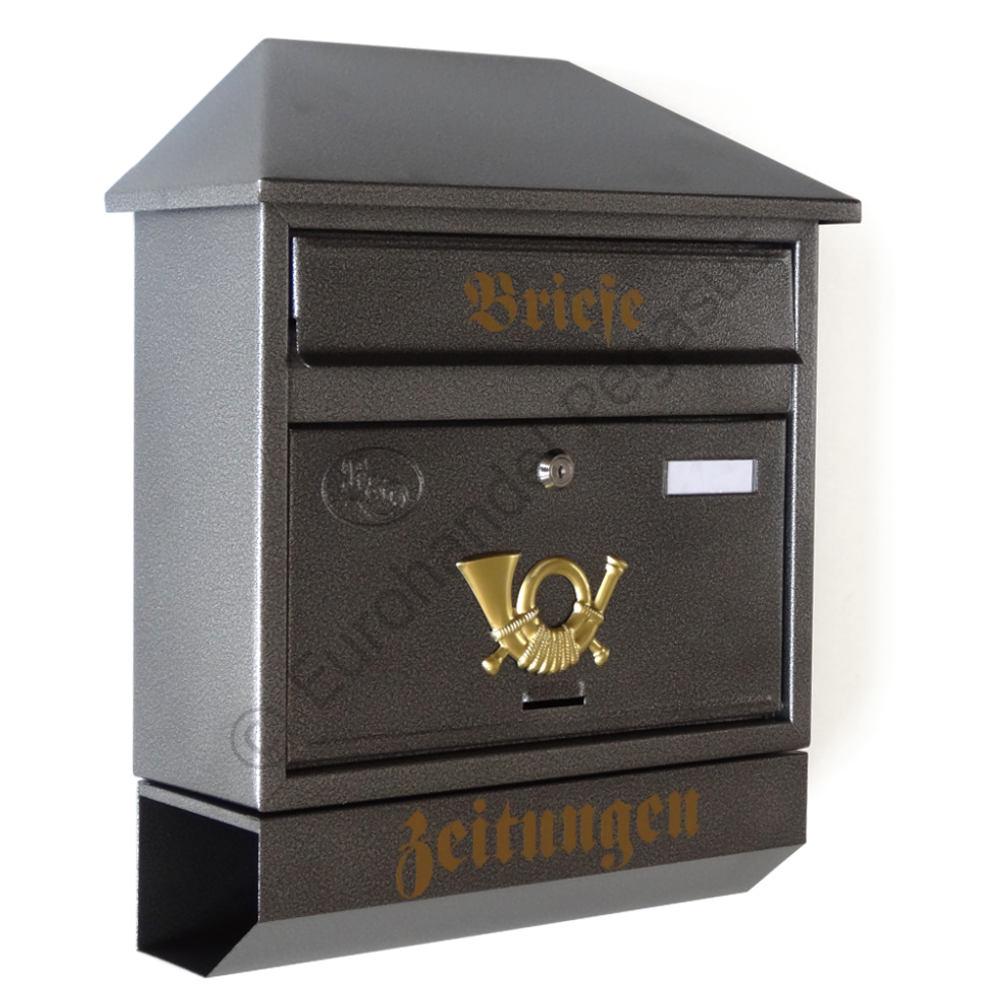 xl briefkasten a4 zeitungsrolle gro er postkasten katalogeinwurf retro nostalgie ebay. Black Bedroom Furniture Sets. Home Design Ideas