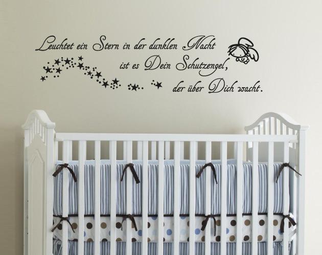 g242 wandtattoo kinderzimmer schutzengel engel sterne. Black Bedroom Furniture Sets. Home Design Ideas