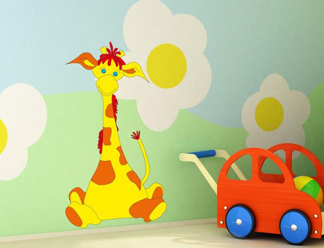 G024 wandtattoo kinderzimmer giraffe afrika baby aufkleber for Bilder fa r kinderzimmer junge