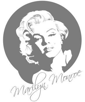 g303 wandaufkleber marilyn monroe wandtattoo film. Black Bedroom Furniture Sets. Home Design Ideas