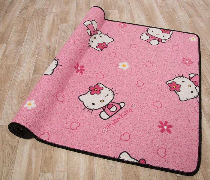 Kinderteppich Spielteppich Kitty Katzen Pink HELLO KITTY