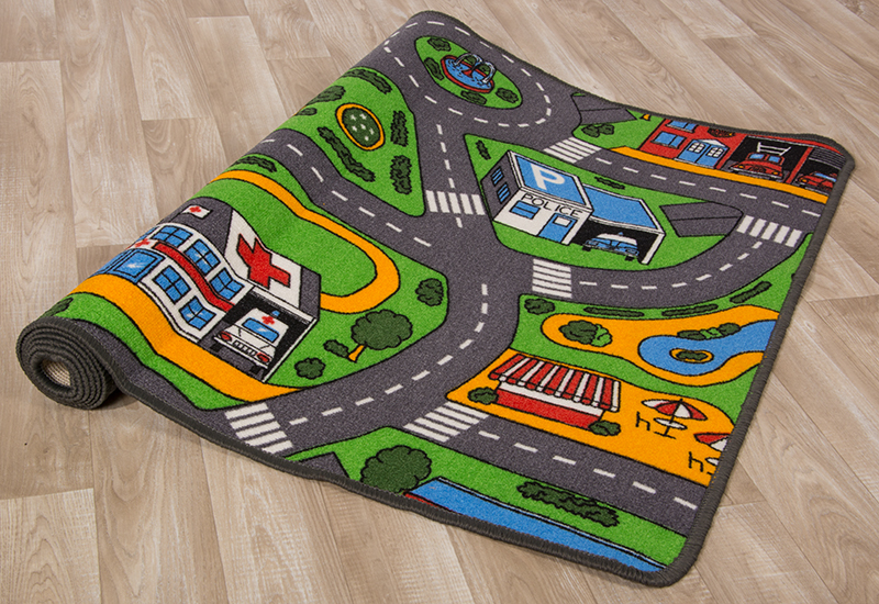 tapis pour enfants tapis de jeu rues ville de voiture city. Black Bedroom Furniture Sets. Home Design Ideas
