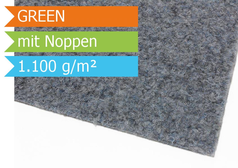 kunstrasen green grau rasenteppich mit noppen vlies 6 00. Black Bedroom Furniture Sets. Home Design Ideas