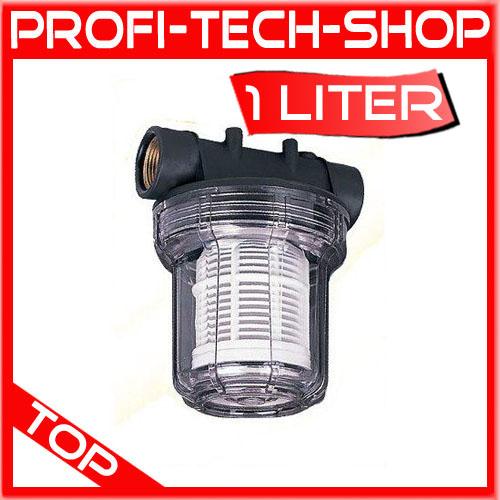 hauswasserwerk filter pumpenfilter filter pumpe wasserfilter ebay. Black Bedroom Furniture Sets. Home Design Ideas
