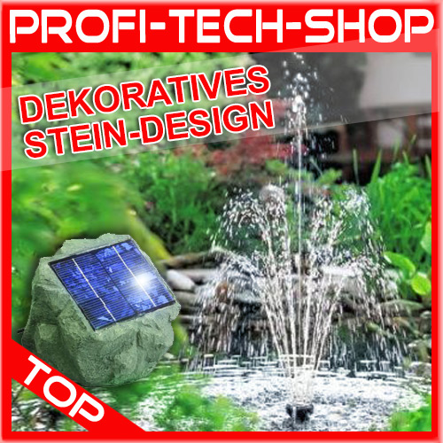 teichpumpe solarpumpe gartenteich springbrunnen solar stein brunnen garten deko ebay. Black Bedroom Furniture Sets. Home Design Ideas