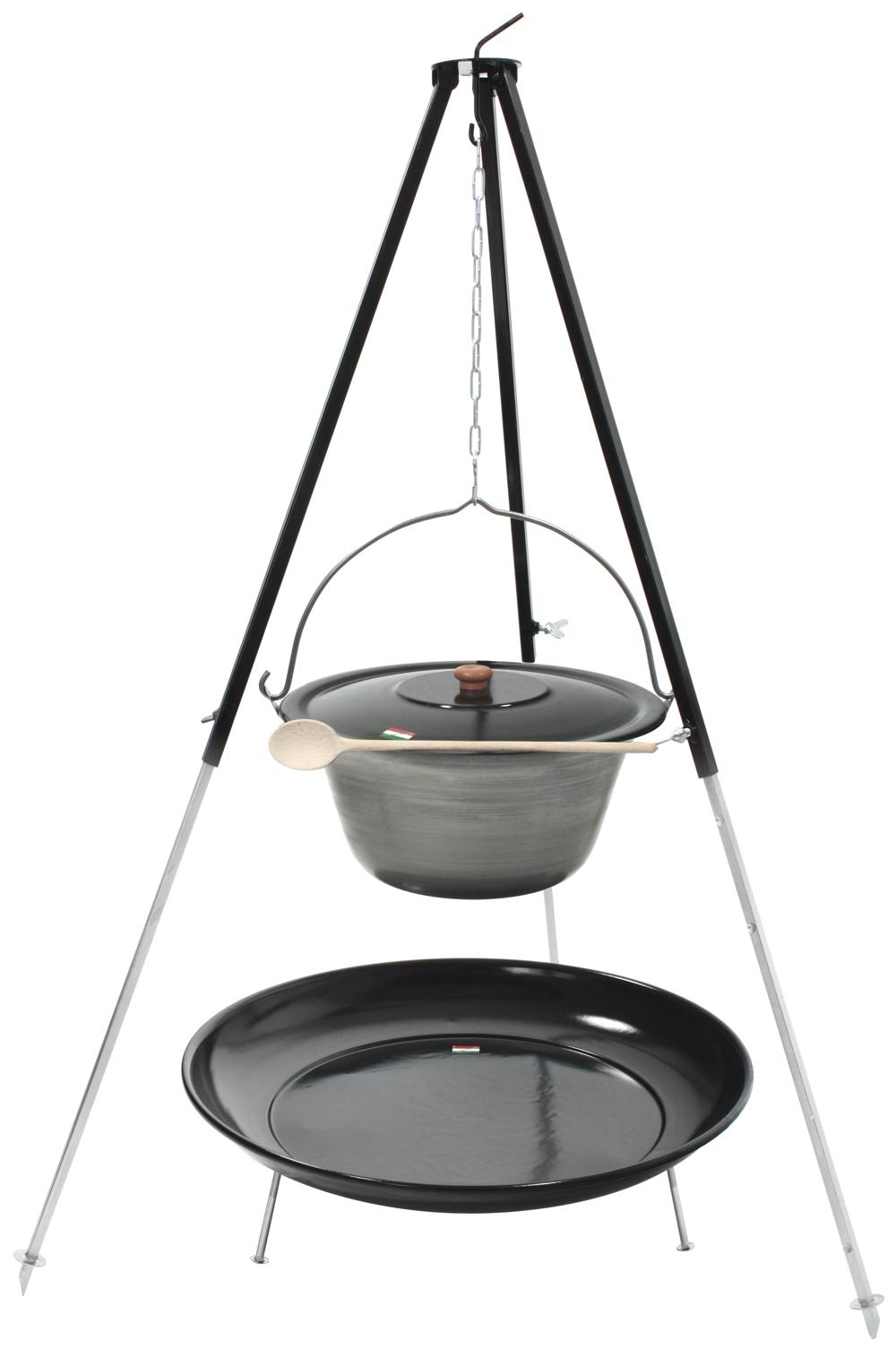 original eisen gulaschkessel 10 liter mit dreibein deckel feuerstelle 10l topf ebay. Black Bedroom Furniture Sets. Home Design Ideas