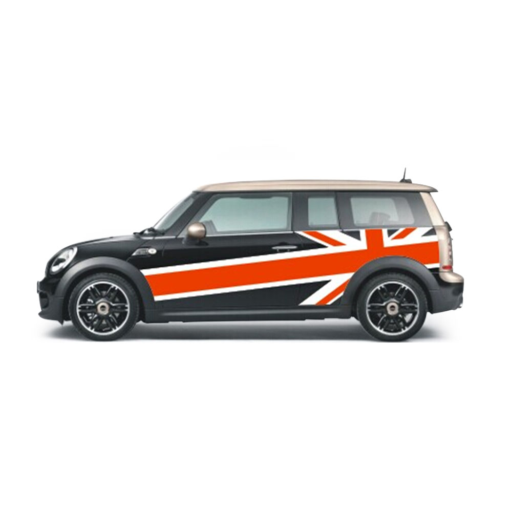 mini clubman folie aufkleber autofolie bodykit union jack design racefoxx ebay. Black Bedroom Furniture Sets. Home Design Ideas