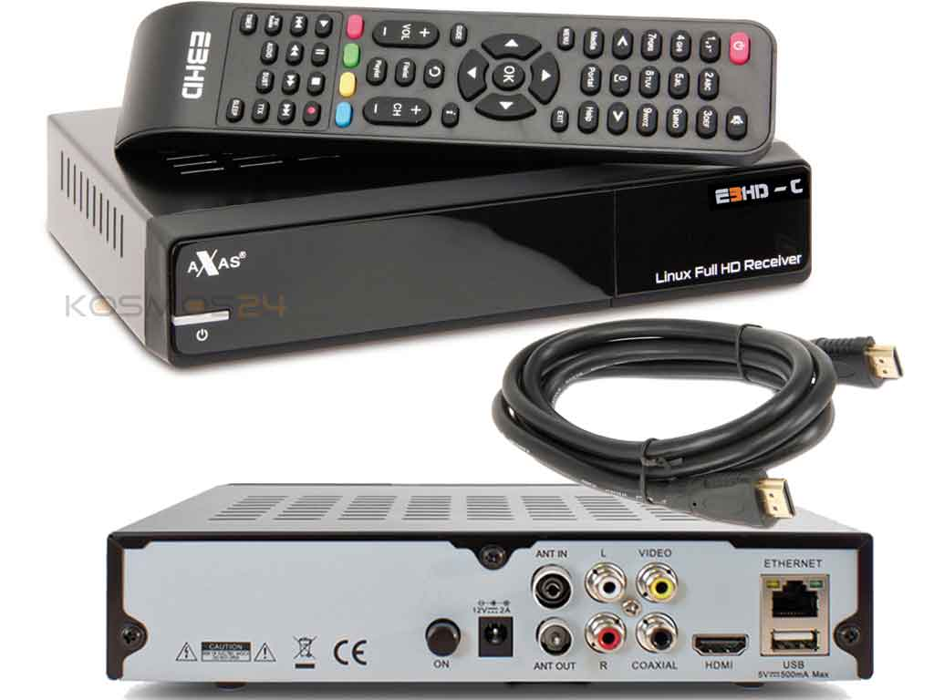 axas e3 hd c kabel receiver linux pvr full hd 1080p dvb c c2 lan hdmi gratis ebay. Black Bedroom Furniture Sets. Home Design Ideas