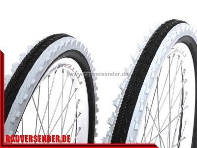 2x 24 mtb mountainbike fahrrad reifen 24x2 0 semislik. Black Bedroom Furniture Sets. Home Design Ideas