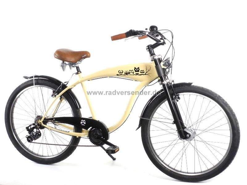 26 beachcruiser cruiser chopper lowrider fahrrad city 7. Black Bedroom Furniture Sets. Home Design Ideas