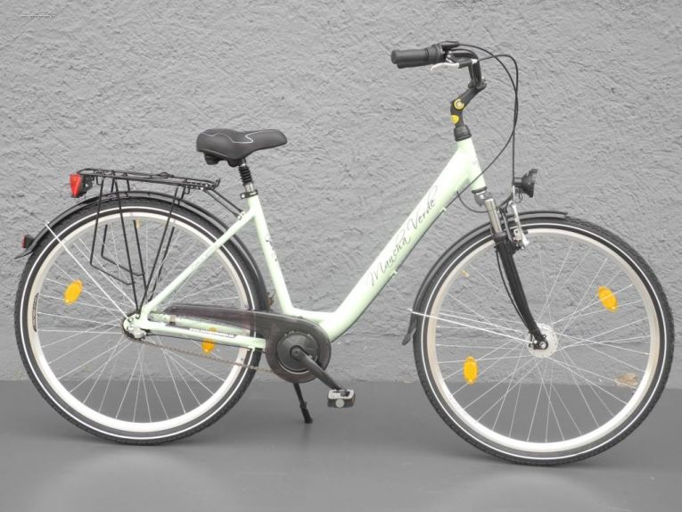 28 zoll damen alu city bike fahrrad 3 gang shimano nabendynamo stvzo mint. Black Bedroom Furniture Sets. Home Design Ideas