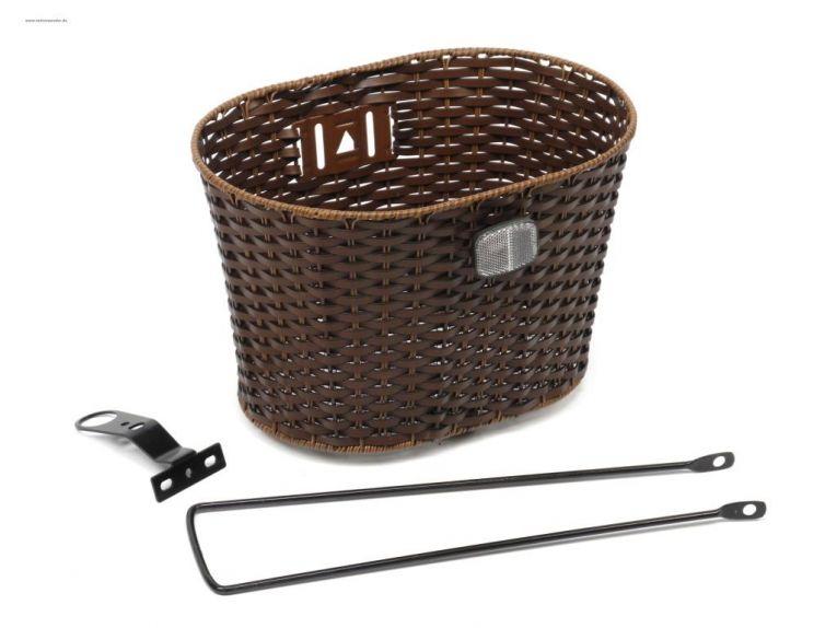 28 zoll fahrrad korb vorne frontstrahler retro flechtoptik. Black Bedroom Furniture Sets. Home Design Ideas