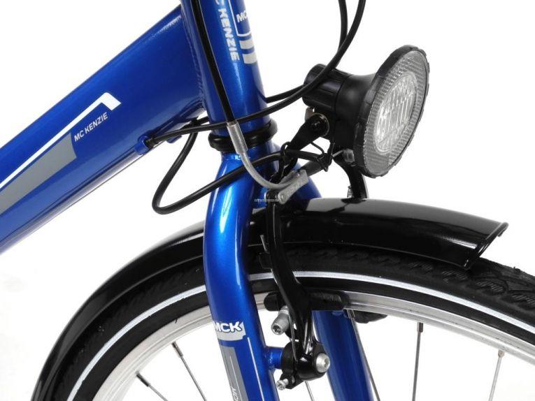 28 Zoll Herren Trekking Bike Fahrrad Shimano 18 Gang Multifunktionslenker blau