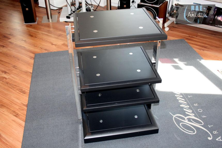 finite elemente pagode signature hifi rack 4 ebenen 85 cm schwarz ebay. Black Bedroom Furniture Sets. Home Design Ideas