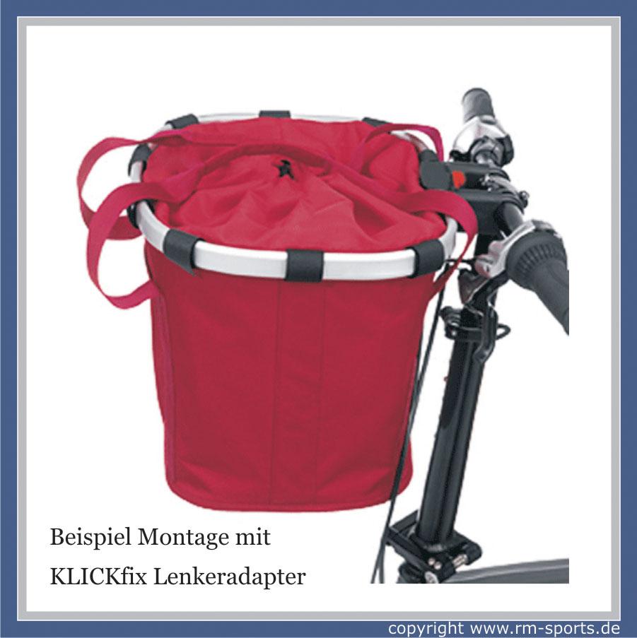 klickfix fahrrad lenkertasche reisenthel bikebasket rot. Black Bedroom Furniture Sets. Home Design Ideas