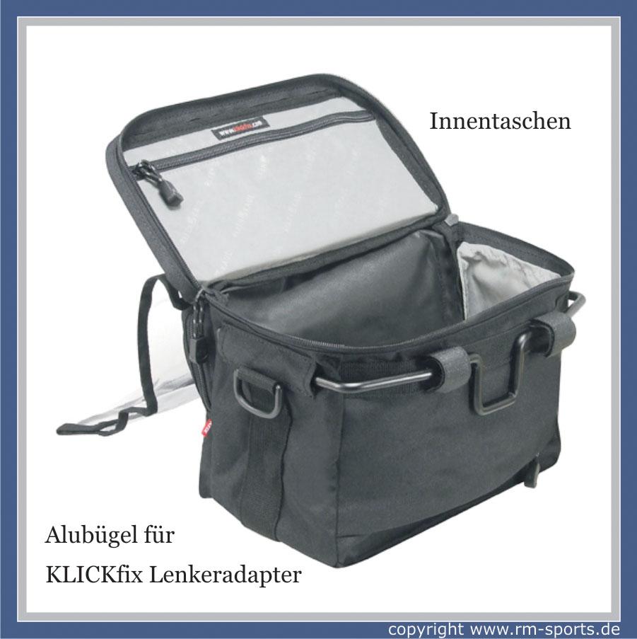 rixen kaul klickfix fahrrad lenkertasche daypack 8 liter. Black Bedroom Furniture Sets. Home Design Ideas