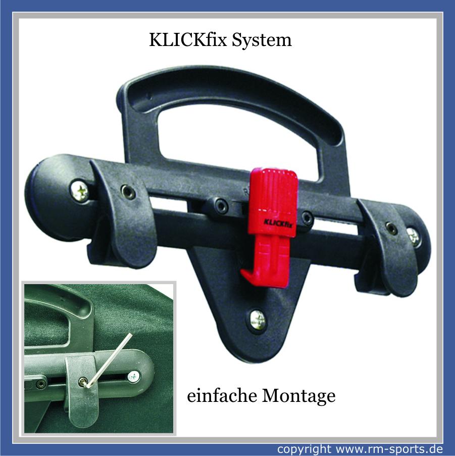 klickfix fahrradtasche backpack 2x21 liter mit klickfix. Black Bedroom Furniture Sets. Home Design Ideas