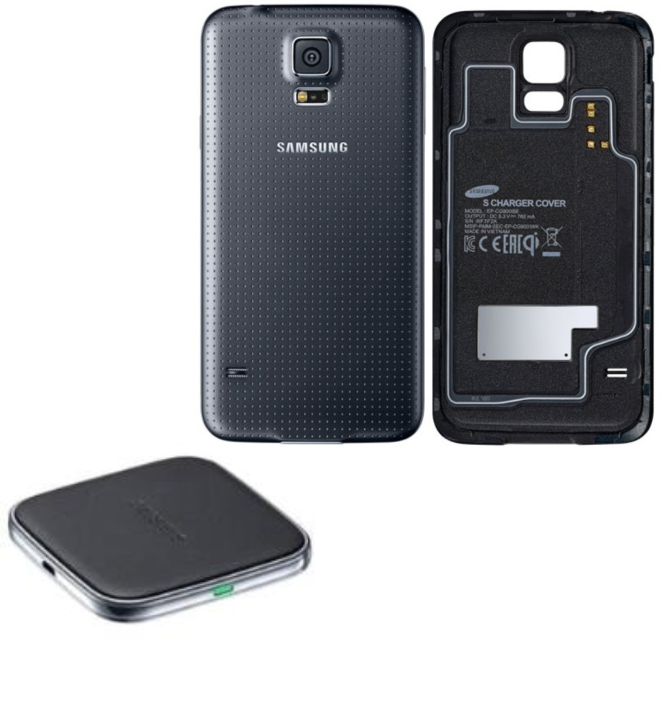original samsung induktives ladeset cover ladepad ep wg900 galaxy s5 g900 black ebay. Black Bedroom Furniture Sets. Home Design Ideas
