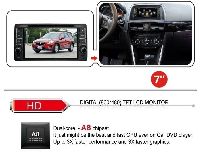 mazda cx 5 new mazda 6 s100 car radio dvd 3d gps navigation system wifi usb ebay. Black Bedroom Furniture Sets. Home Design Ideas