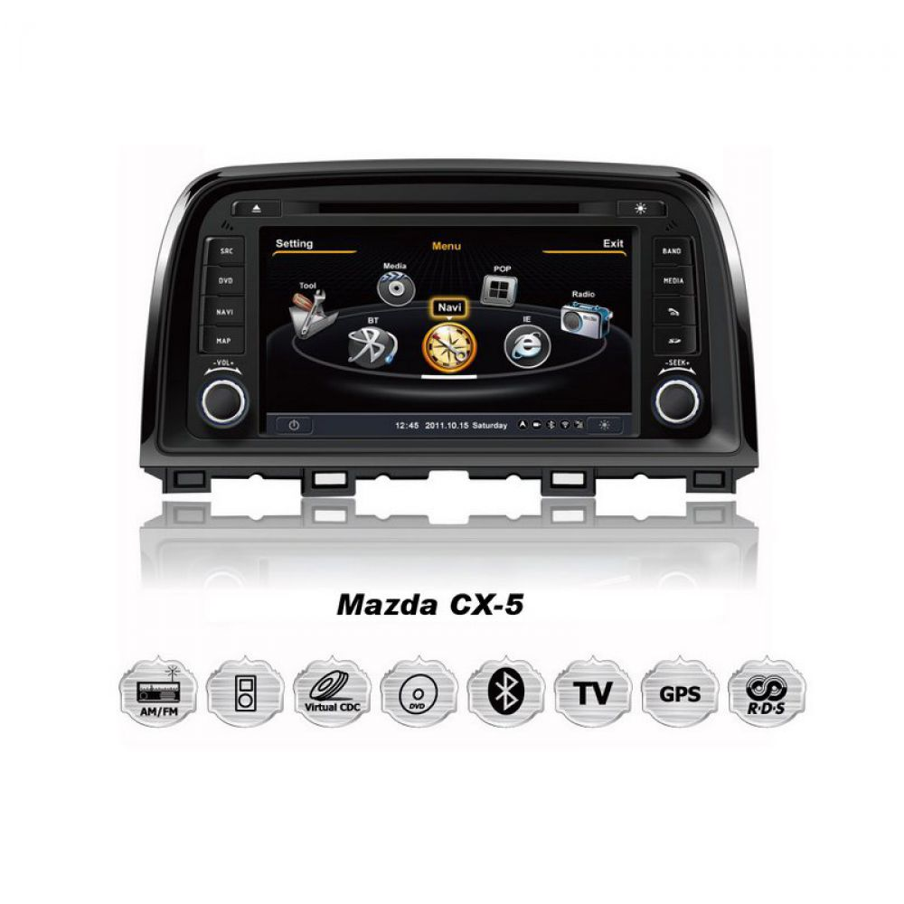 mazda cx 5 touch screen car radio navigation gps dvd mp3 usb 3d tv bluetooth ebay. Black Bedroom Furniture Sets. Home Design Ideas