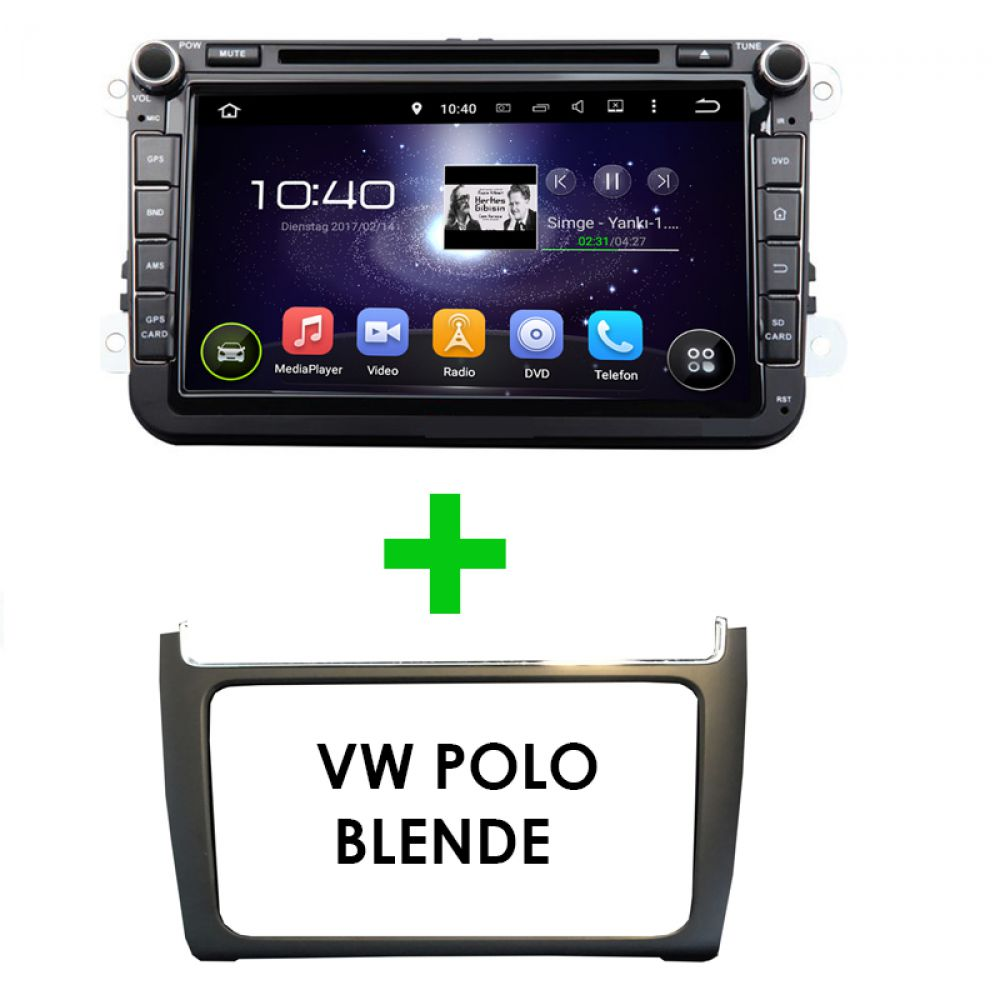 volkswagen polo 6c 6r android autoradio touchscreen gps. Black Bedroom Furniture Sets. Home Design Ideas