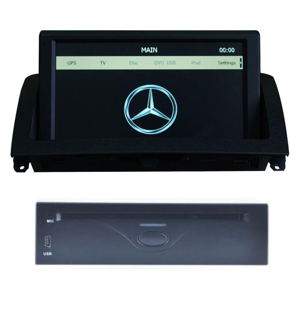 Mercedes benz c class w204 car radio gps navigation touch for Mercedes benz navigation dvd