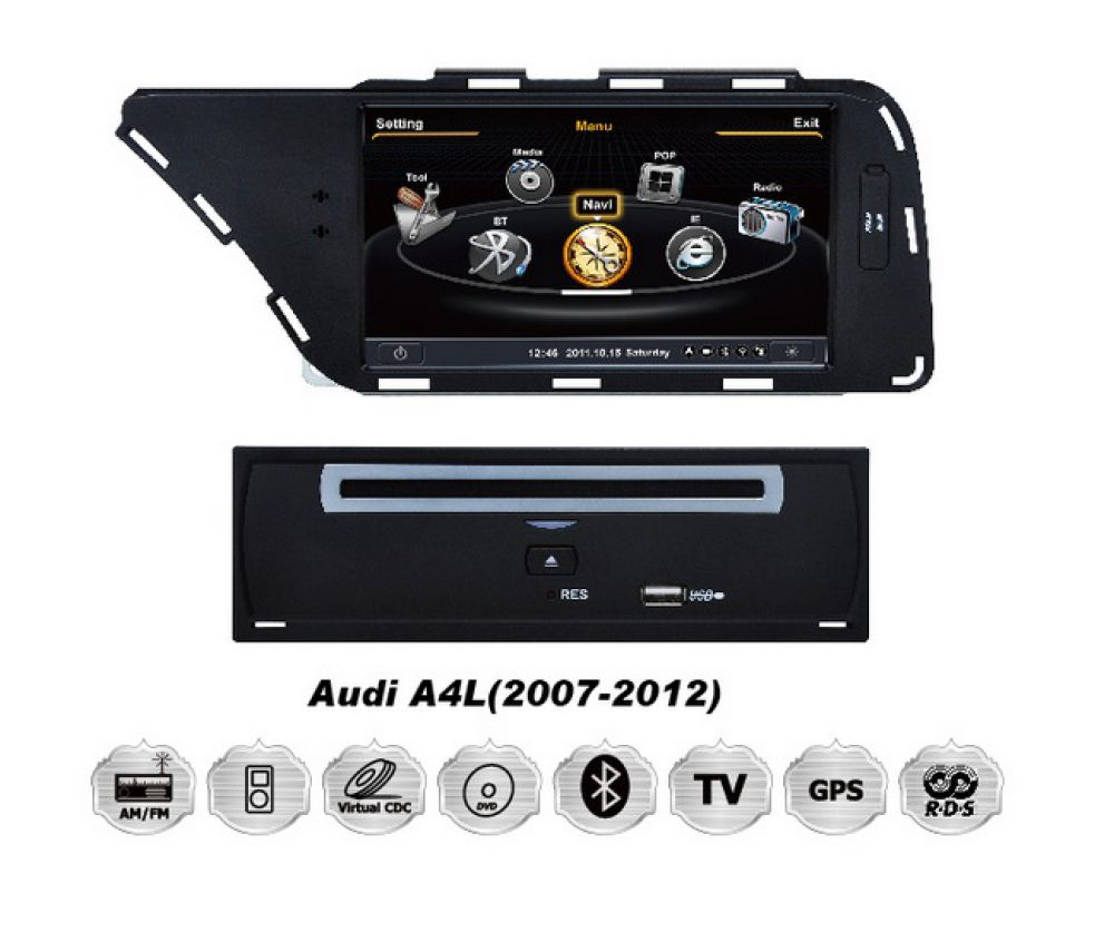 audi a4 a5 8t 8k touchscreen 3d gps navigationsystem dvd. Black Bedroom Furniture Sets. Home Design Ideas