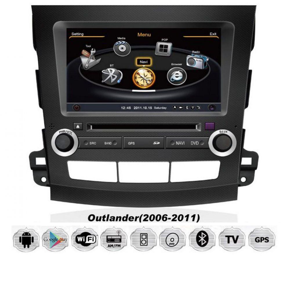 mitsubishi outlander citro n c crosser peugeot 4007 android car radio navi dvd ebay. Black Bedroom Furniture Sets. Home Design Ideas