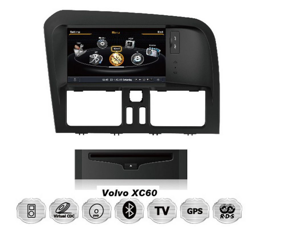 volvo xc60 touchscreen 3d gps navigation dvd bluetooth. Black Bedroom Furniture Sets. Home Design Ideas