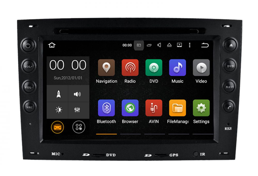 renault megane cc ii 2din android touch screen car radio. Black Bedroom Furniture Sets. Home Design Ideas
