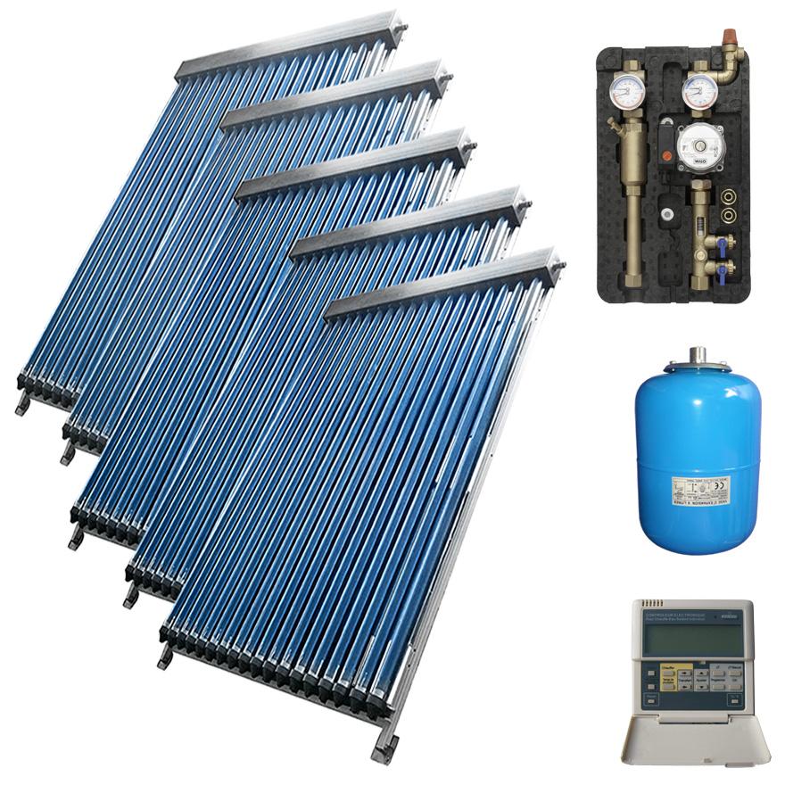 solaranlage warmwasser vakuumr hren komplettpaket x9000 5 5 kollektoren ebay. Black Bedroom Furniture Sets. Home Design Ideas