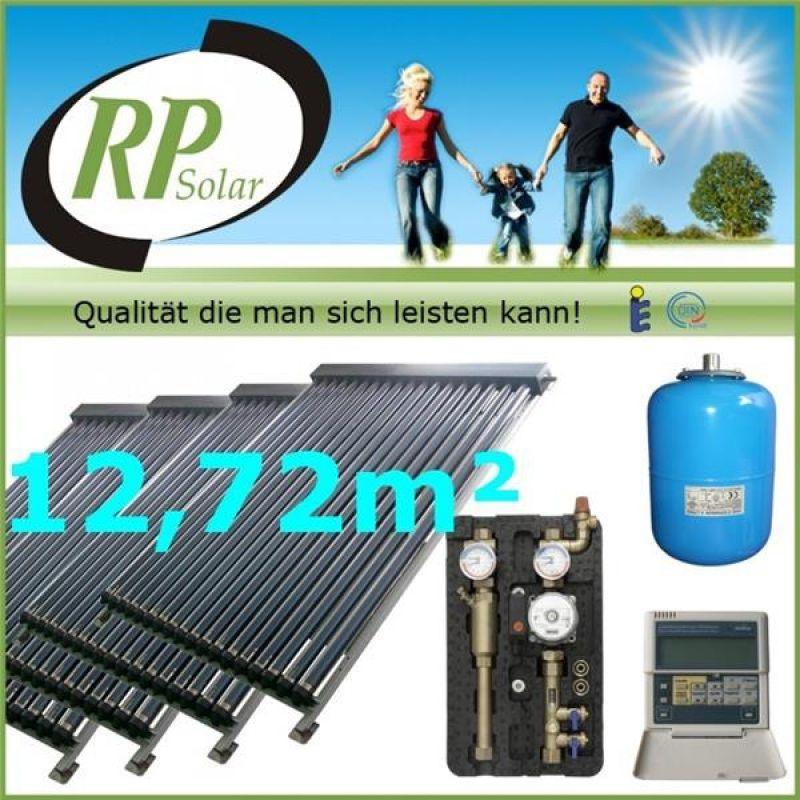 solaranlage warmwasser vakuumr hren komplettpaket solarpaket x9000 4 4 ebay. Black Bedroom Furniture Sets. Home Design Ideas