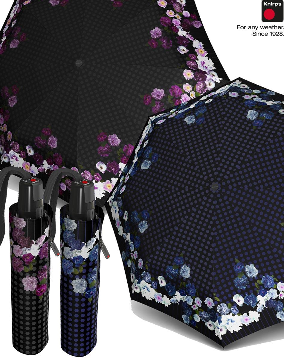 knirps regenschirm damen taschenschirm t2 duomatic auf zu. Black Bedroom Furniture Sets. Home Design Ideas