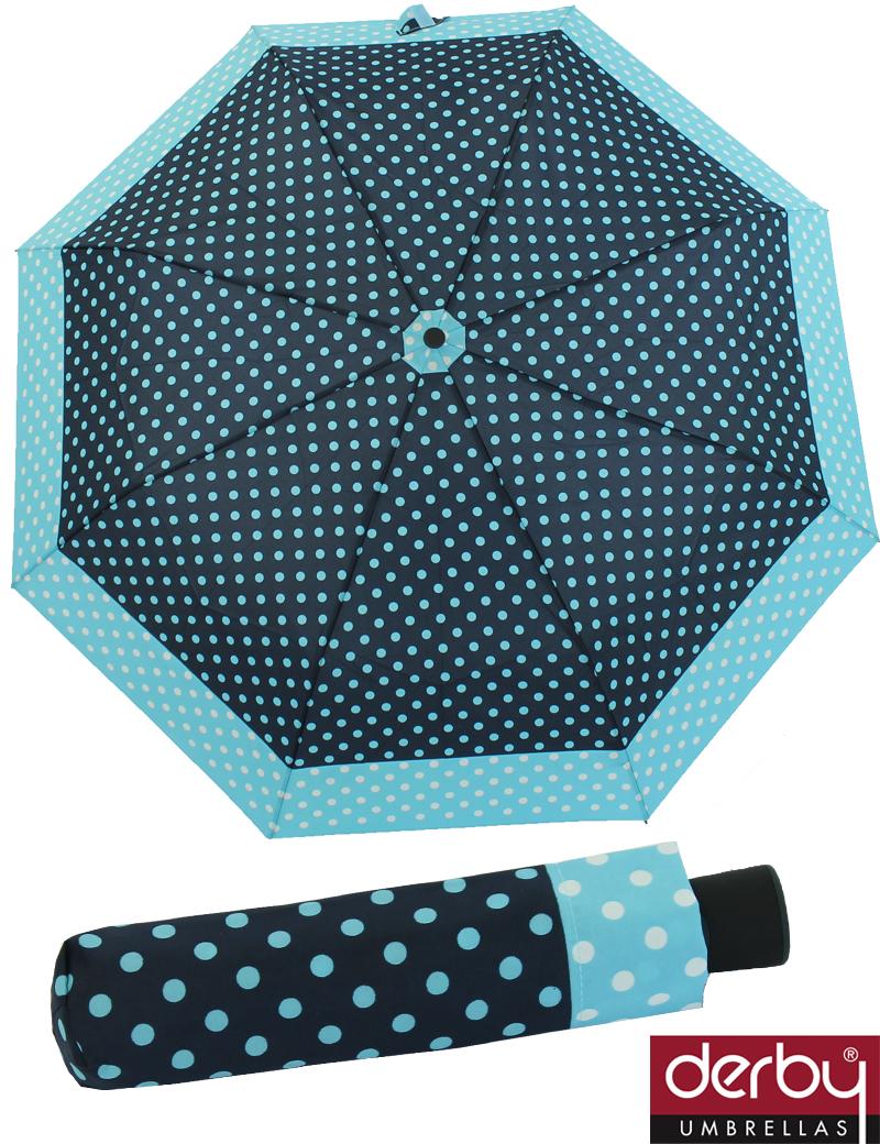 regenschirm taschenschirm damen schirm mini automatik dots ebay. Black Bedroom Furniture Sets. Home Design Ideas