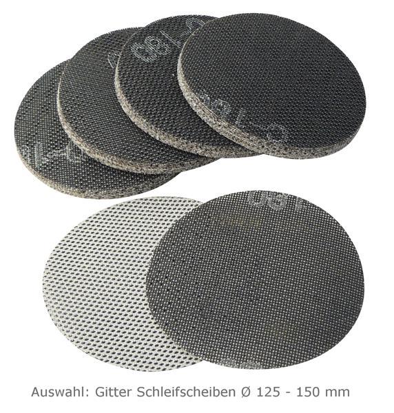 50 x exzenter schleifpapier gitter schleifscheiben 125 150 mm p80 p400 ebay. Black Bedroom Furniture Sets. Home Design Ideas