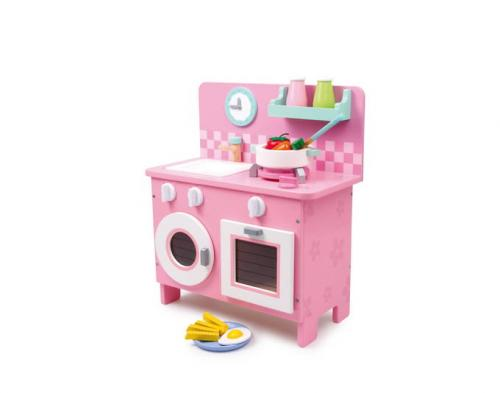 k che rosali kinderk che spielzeug holz rosa puppen food kitchen toy ebay. Black Bedroom Furniture Sets. Home Design Ideas