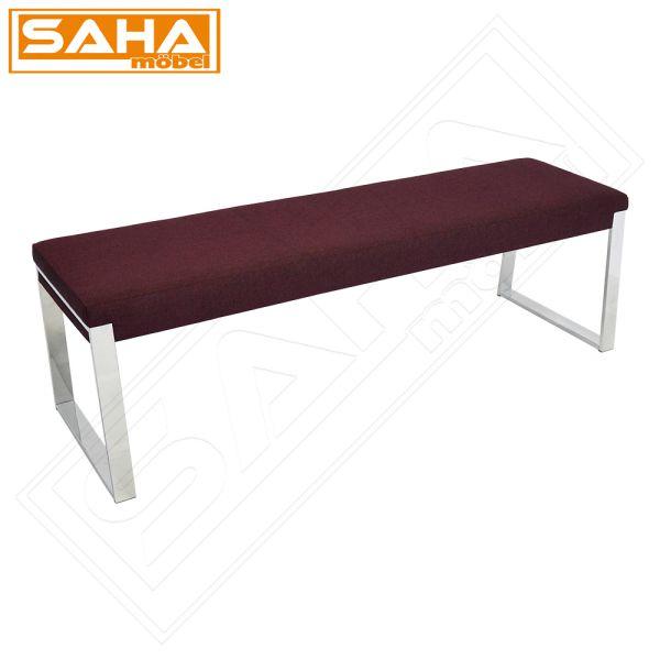 vorbank 160er aubergine chrom f e bank tisch sitz sitzbank eckbank esszimmer ebay. Black Bedroom Furniture Sets. Home Design Ideas