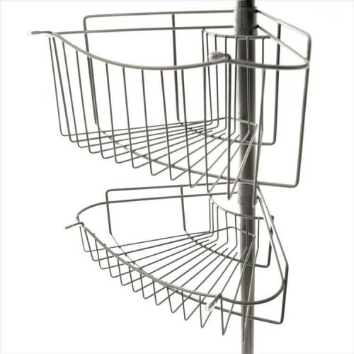 teleskop eckregal badregal duschablage teleskopregal regal 1 32 2 47m ebay. Black Bedroom Furniture Sets. Home Design Ideas