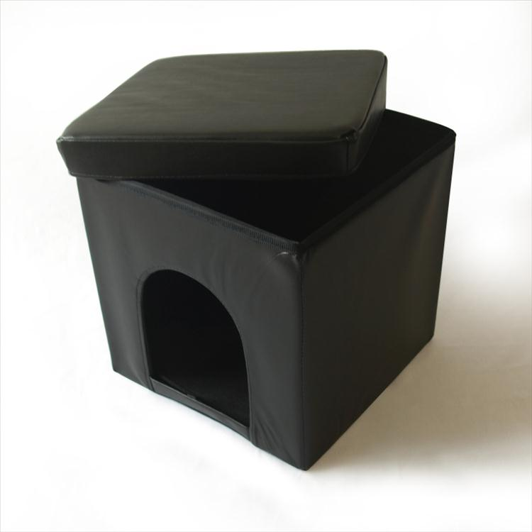 maison chat tabouret malle pliable pouf cube pour s 39 asseoir niche de chien ebay. Black Bedroom Furniture Sets. Home Design Ideas