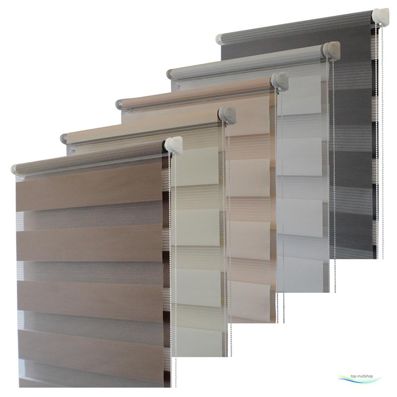 top multi doppelrollo klemmfix selbstklebend duo rollo jalousie vario ketten ebay. Black Bedroom Furniture Sets. Home Design Ideas