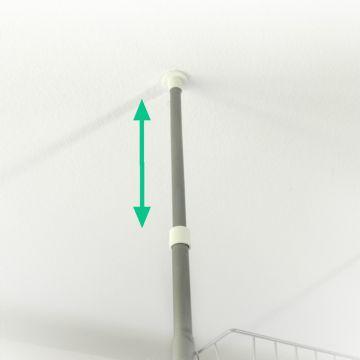 teleskop regal badregal teleskopregal waschmaschinenregal raumteiler ebay. Black Bedroom Furniture Sets. Home Design Ideas