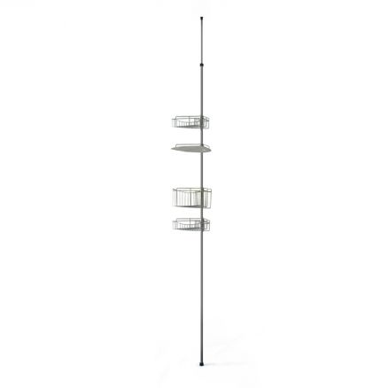 teleskop eckregal badregal duschablage teleskopregal regal 1 32 2 47m duschregal ebay. Black Bedroom Furniture Sets. Home Design Ideas