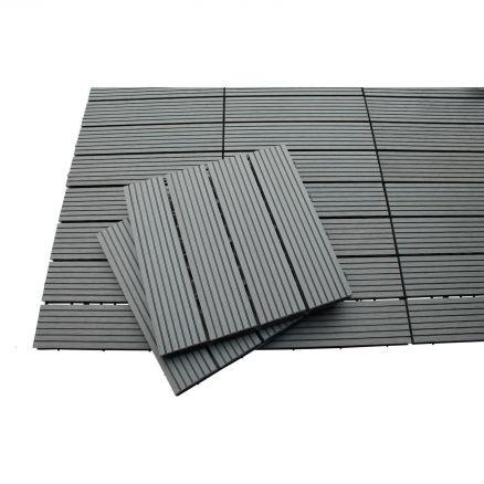 wpc fliesen holz 30x30cm balkon terrasse garten dielen sauna umrandung pool ebay. Black Bedroom Furniture Sets. Home Design Ideas