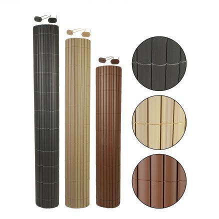 sichtschutzmatte pvc balkonverkleidung zaunblende sichtschutz windschutz garten ebay. Black Bedroom Furniture Sets. Home Design Ideas