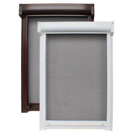 insektenschutzrollo fliegengitter fiberglas rollo m ckennetz alu fenster ebay. Black Bedroom Furniture Sets. Home Design Ideas