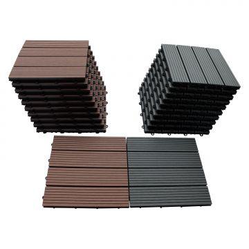 wpc terrassenfliesen holz fliese 30x30cm bodenfliese. Black Bedroom Furniture Sets. Home Design Ideas
