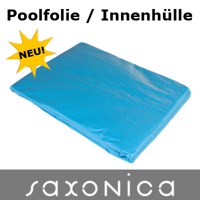 Poolfolie innenh lle rundbecken 360 x 90 cm 0 6 mm blau for Poolfolie blau