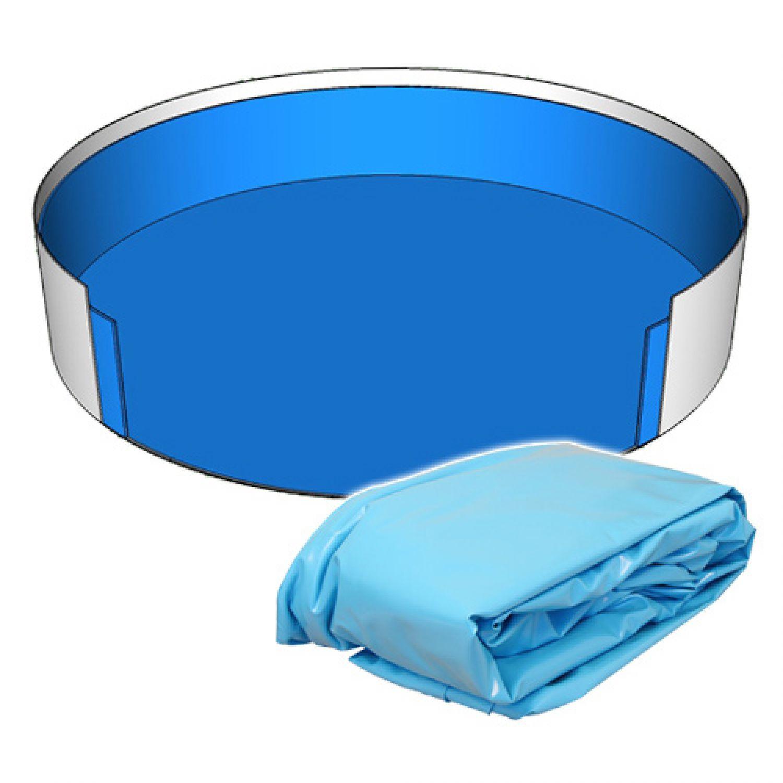 Poolfolie innenh lle rundpool 460 x 120 cm 0 8 mm blau for Poolfolie 460 x 120